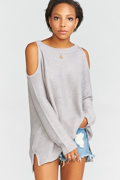 Shoptiques Product: Shiver Shoulder Sweater