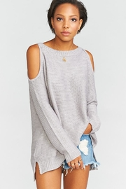 Show Me Your Mumu Shiver Shoulder Sweater - Product Mini Image
