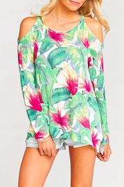 Show Me Your Mumu Shiver Shoulder Sweater - Front cropped