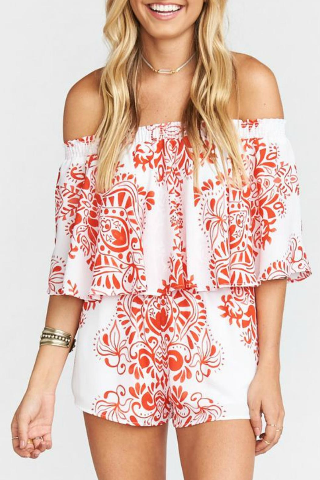Show Me Your Mumu Red And White Romper - Main Image