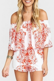 Show Me Your Mumu Red And White Romper - Product Mini Image