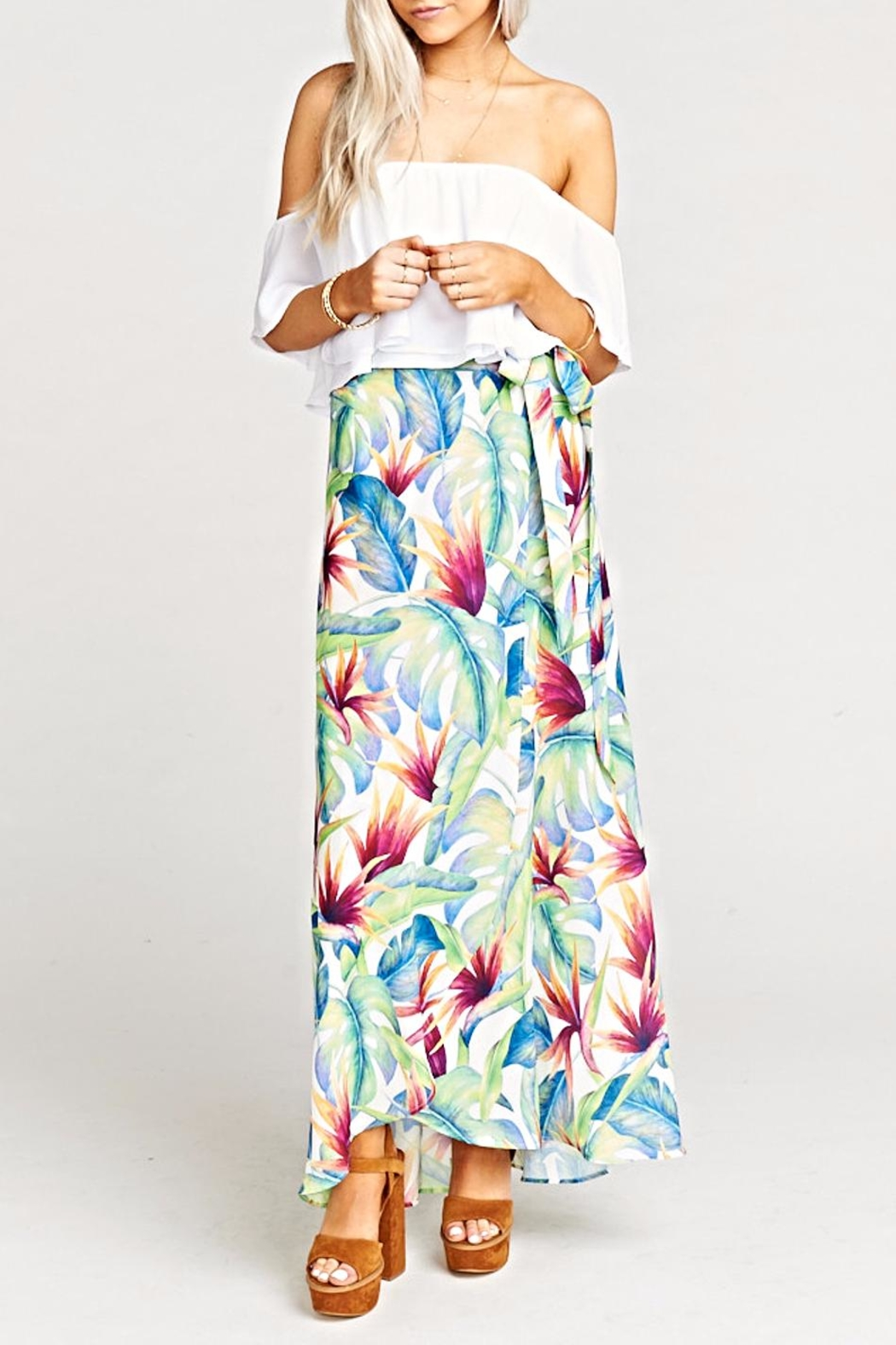 Show Me Your Mumu Siren Wrap Skirt - Front Cropped Image