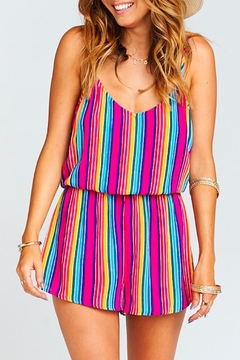 Show Me Your Mumu Stripe Rorey Romper - Product List Image