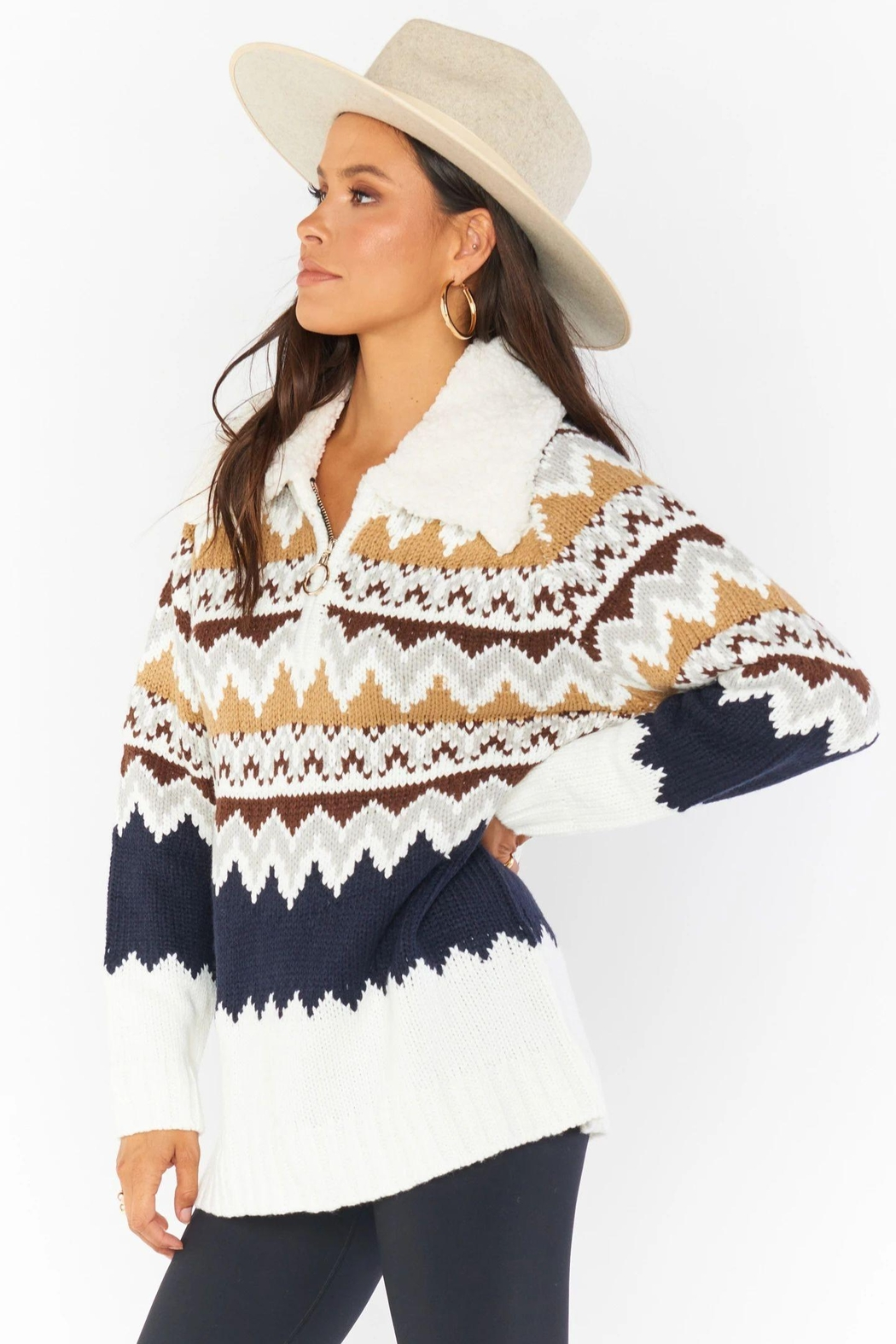Show Me Your Mumu Sun Valley Pullover - Side Cropped Image