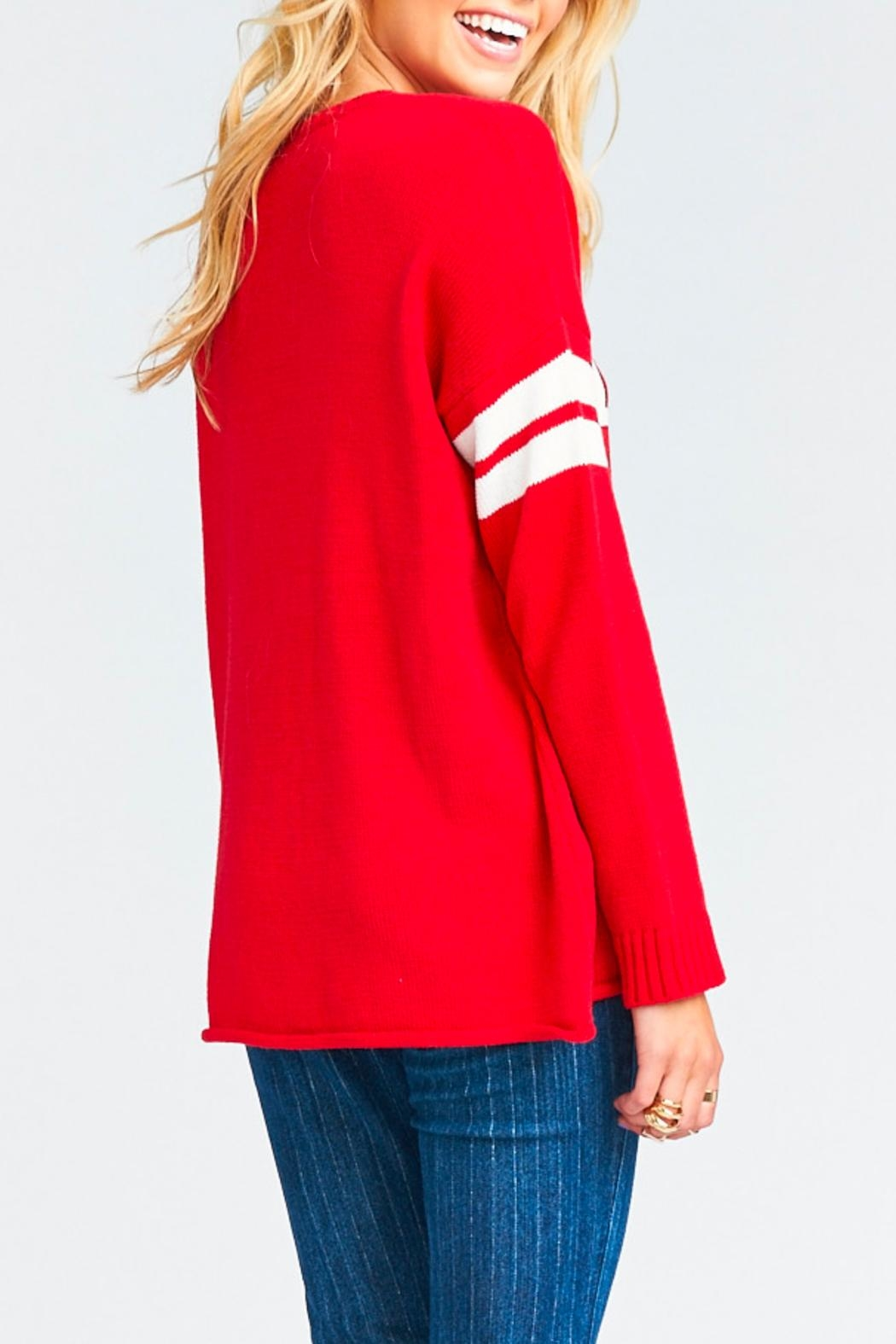 Show Me Your Mumu Varsity Merry Sweater - Side Cropped Image