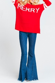 Show Me Your Mumu Varsity Merry Sweater - Back cropped