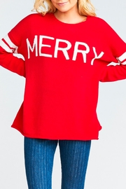 Show Me Your Mumu Varsity Merry Sweater - Product Mini Image