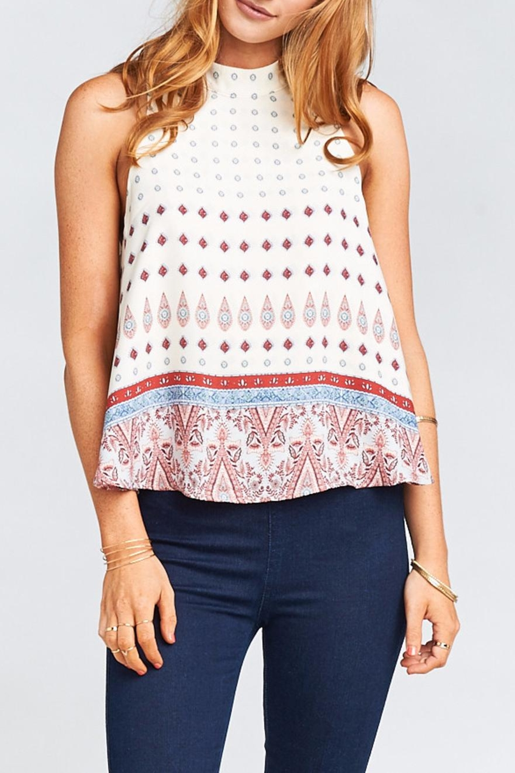 Show Me Your Mumu Walter V-Back Top - Front Full Image