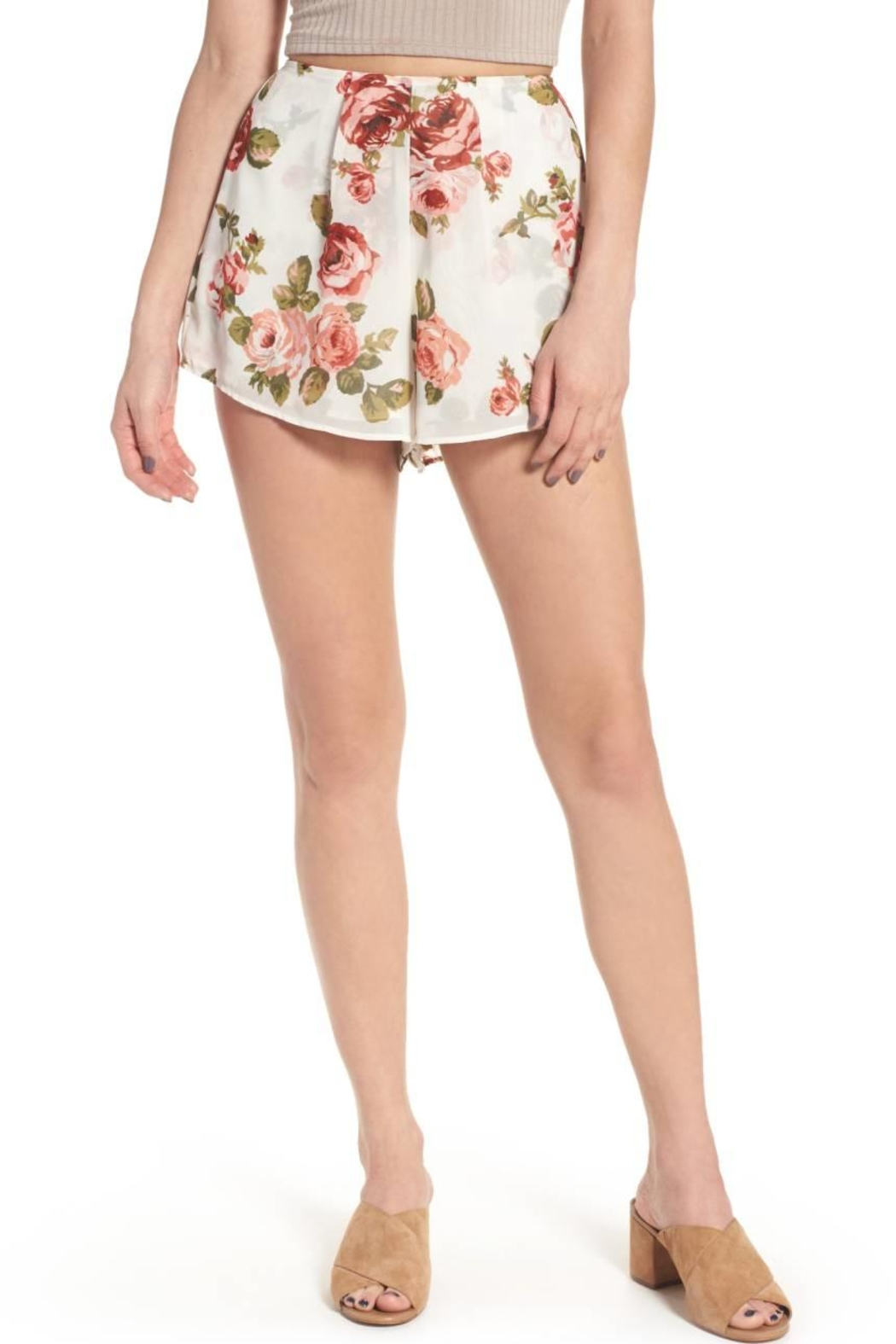 Show Me Your Mumu White Floral Shorts - Main Image