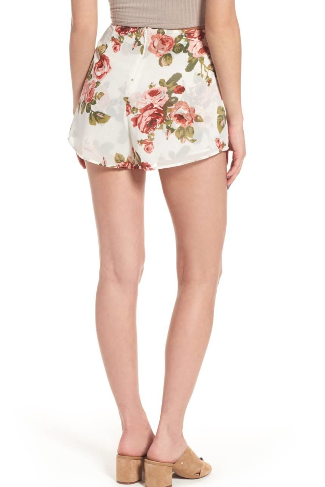 Show Me Your Mumu White Floral Shorts - Front Full Image