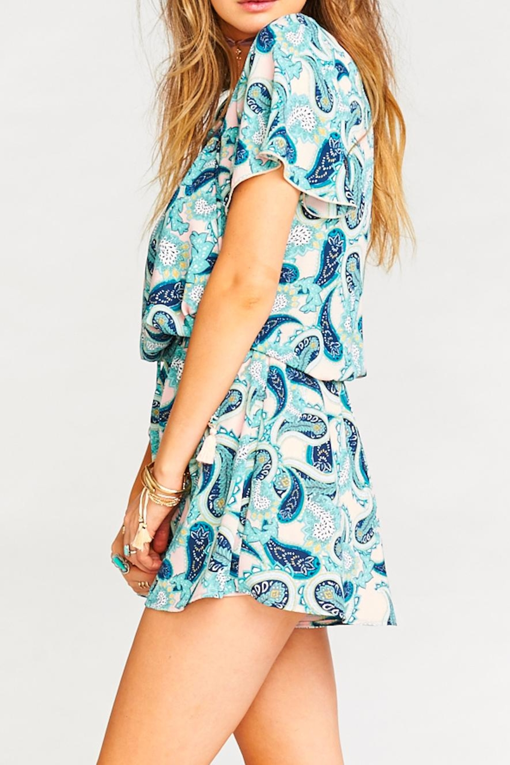 Show Me Your Mumu Williamsburg Paisley Romper - Back Cropped Image