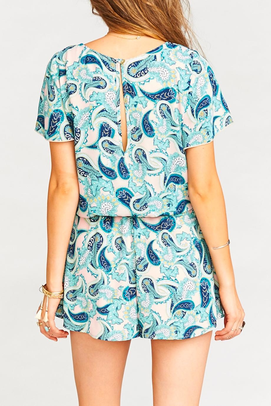 Show Me Your Mumu Williamsburg Paisley Romper - Side Cropped Image