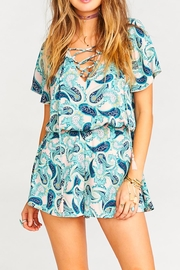 Show Me Your Mumu Williamsburg Paisley Romper - Product Mini Image