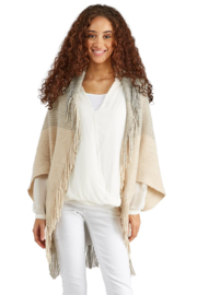Two's Company Shrug with Tassels - Product Mini Image