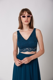 ShuShine Green Lace Top - Front cropped