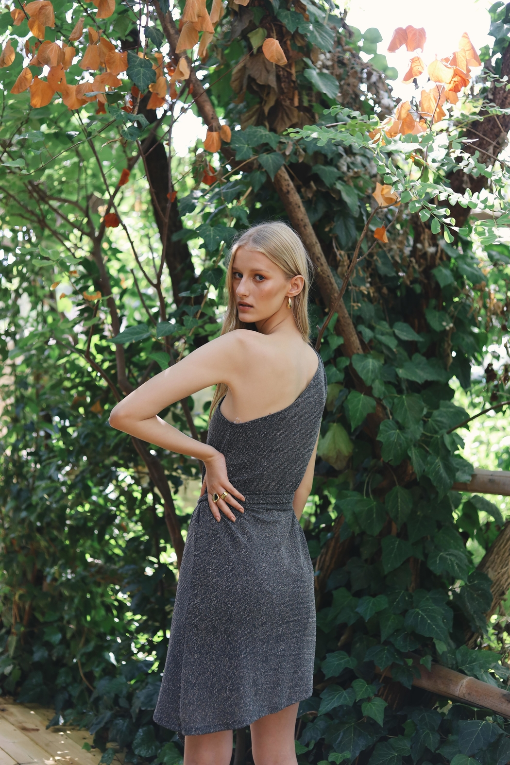ShuShine Jully Dress Grey - Back Cropped Image
