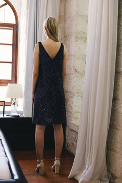 ShuShine Sequined Blue Dress - Alternate List Image