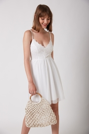 ShuShine White Mini Dress - Front full body