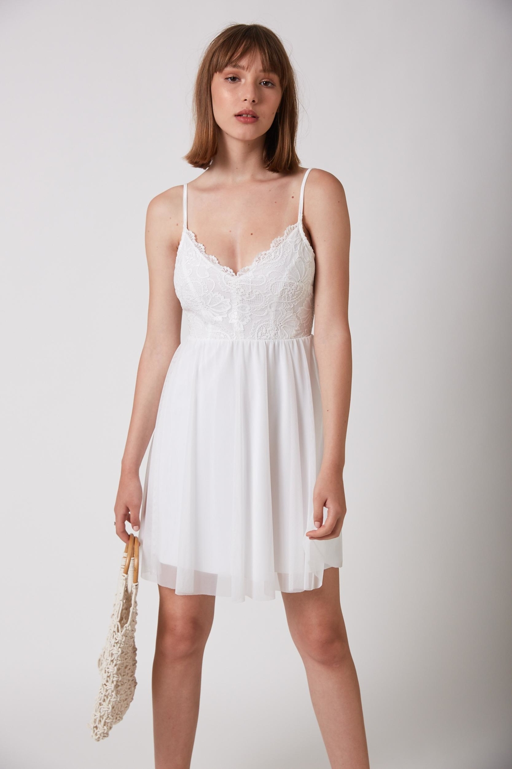 ShuShine White Mini Dress - Main Image