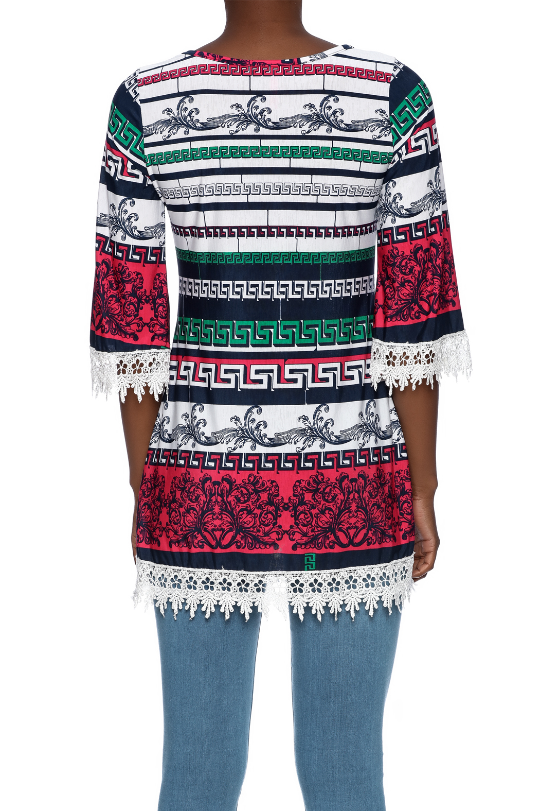 SI Avance Tribal Floral Tunic - Back Cropped Image