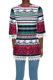 SI Avance Tribal Floral Tunic - Back cropped