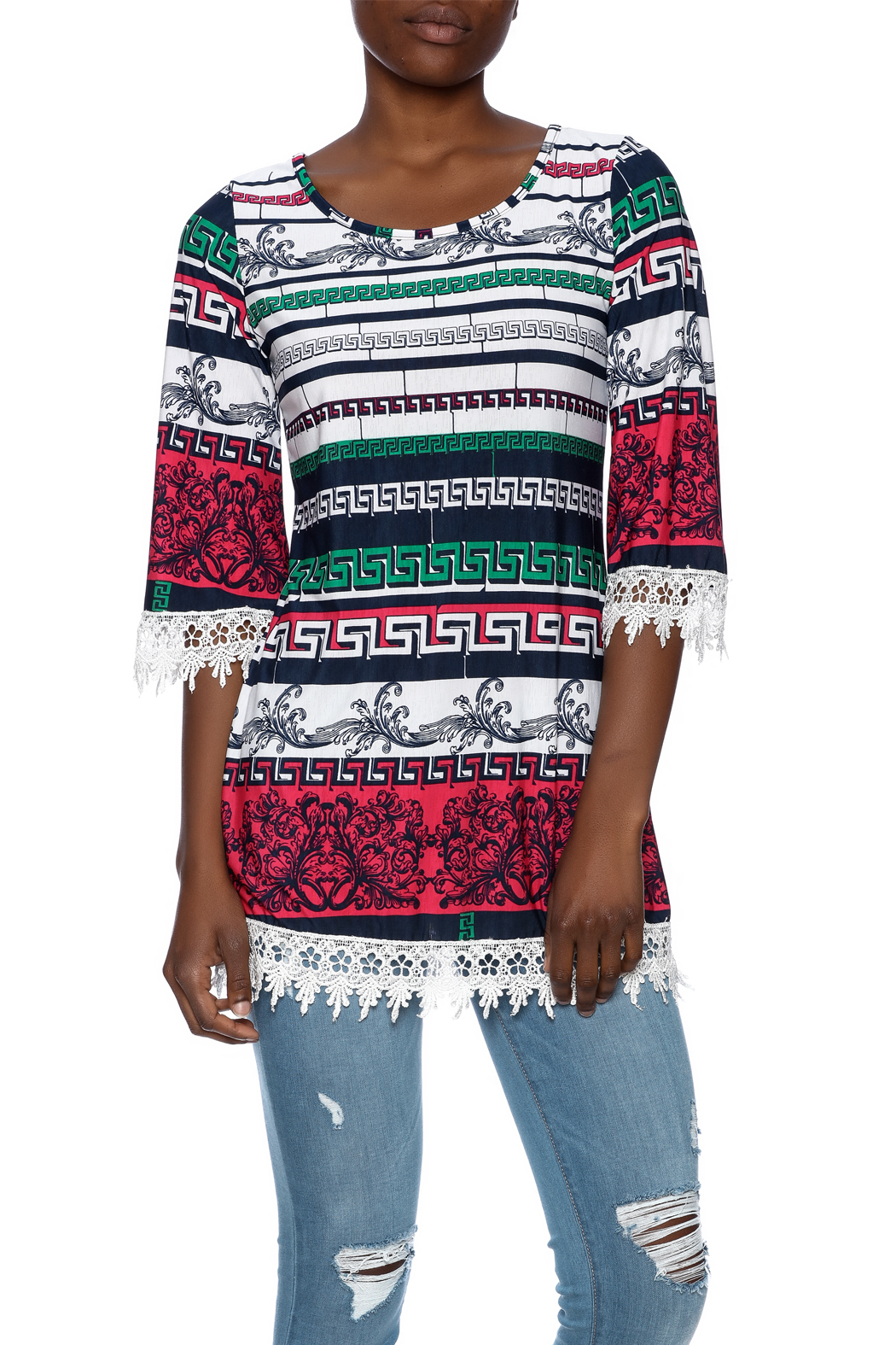 SI Avance Tribal Floral Tunic - Main Image