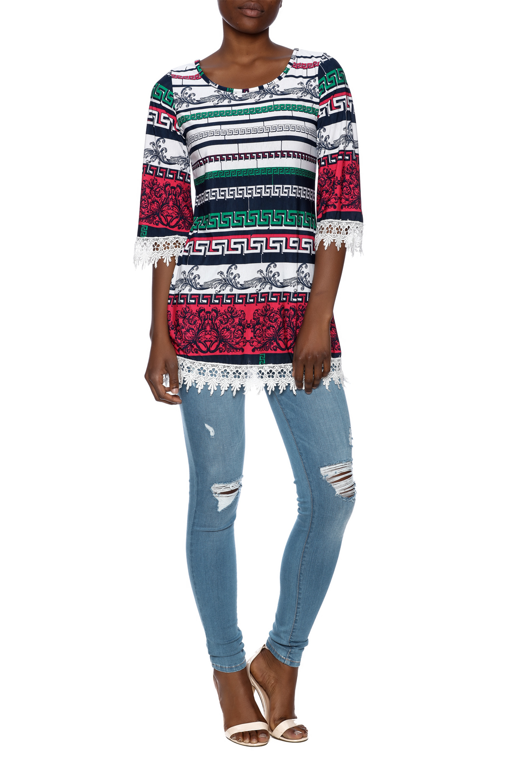 SI Avance Tribal Floral Tunic - Front Full Image
