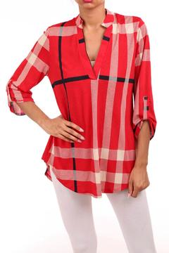 Shoptiques Product: Red Plaid Top