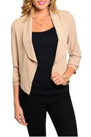Si Style Lace Insert Blazer - Front cropped