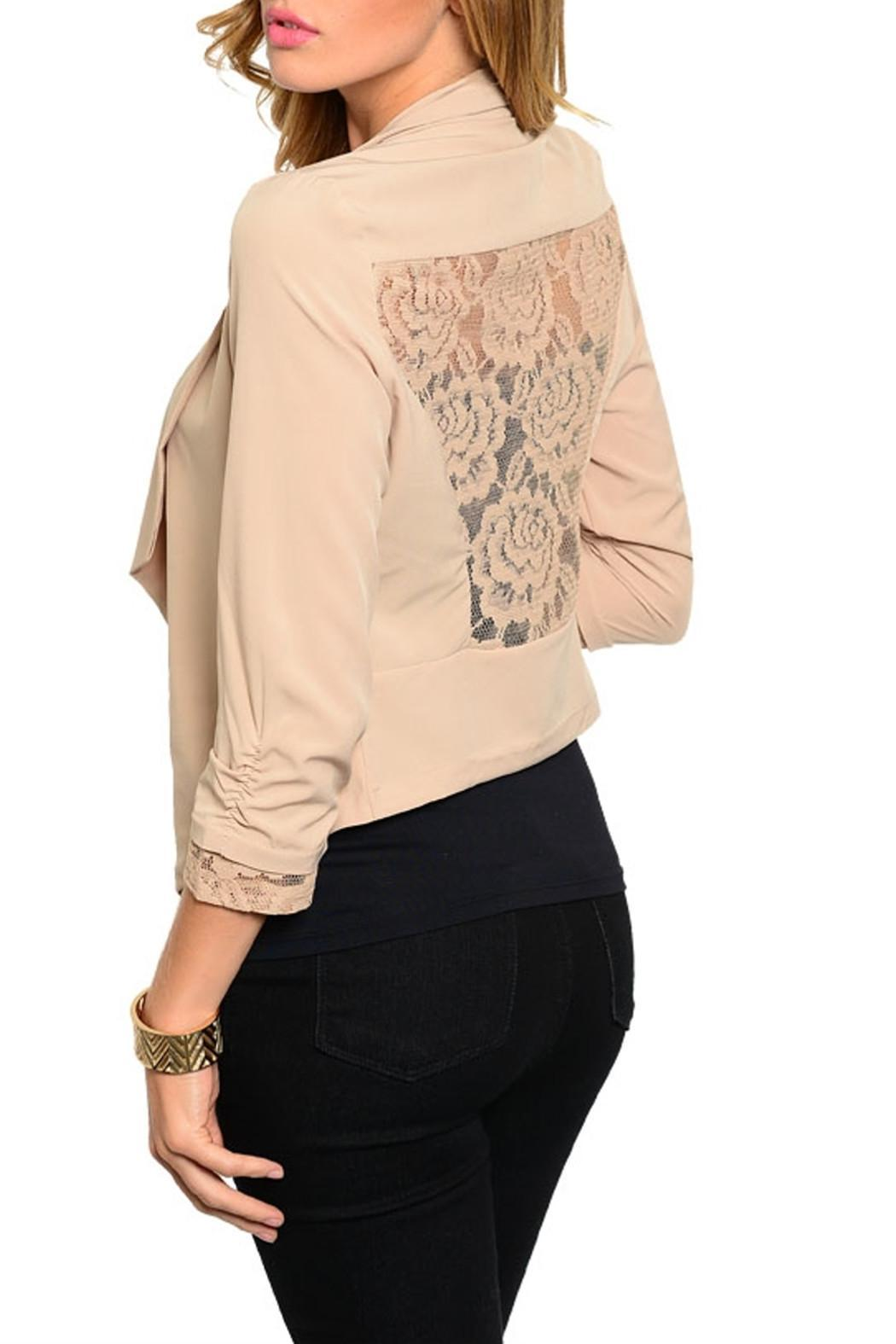 Si Style Lace Insert Blazer - Front Full Image