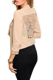 Si Style Lace Insert Blazer - Front full body