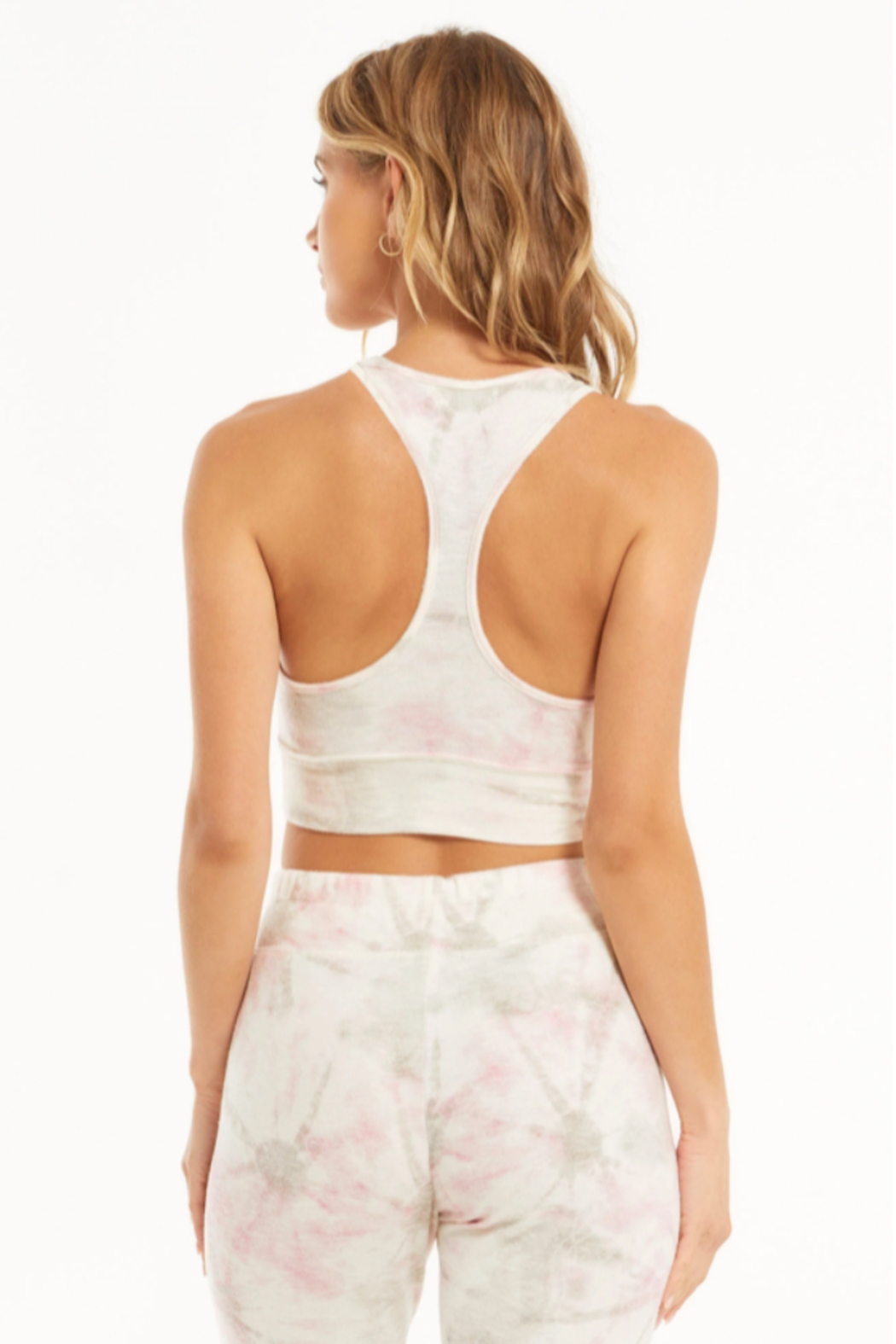 z supply Sia Faded Tie Dye Tank Bra - Back Cropped Image