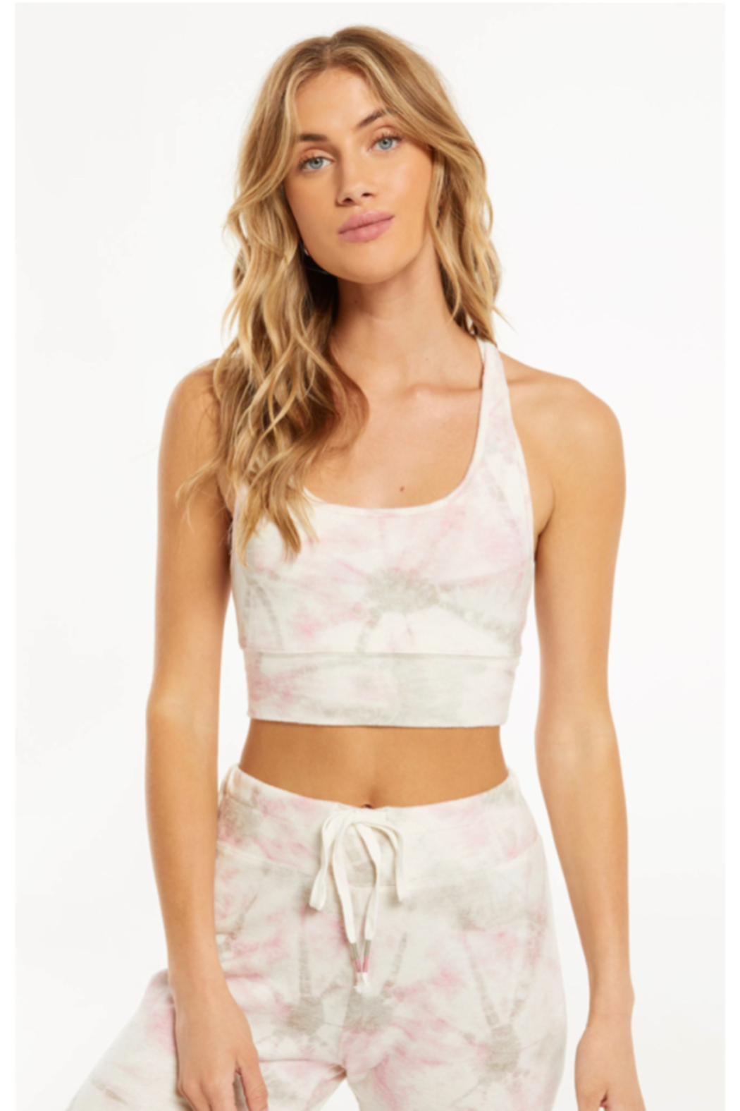 z supply Sia Faded Tie Dye Tank Bra - Side Cropped Image