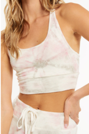 z supply Sia Faded Tie Dye Tank Bra - Front full body