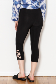 Bali Side Ankle Cut Out Capri - Side cropped