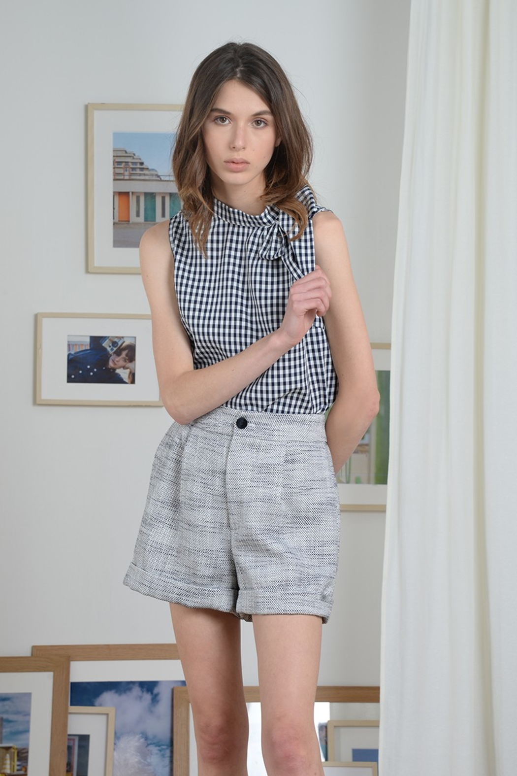 Molly Bracken SIDE BOW TOP SLEEVELESS - Back Cropped Image