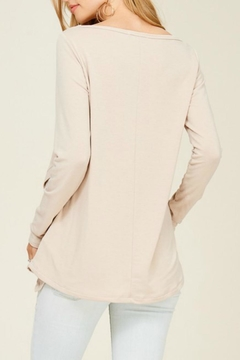Staccato Side-Button Asymmetric Tee - Alternate List Image