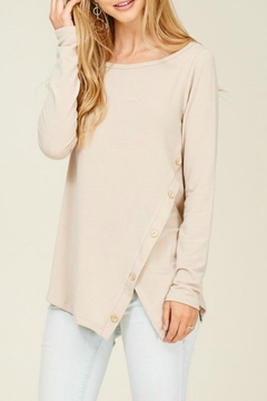 Staccato Side-Button Asymmetric Tee - Product List Image
