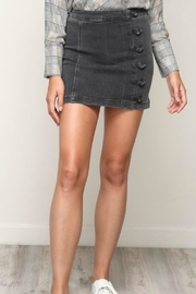 Mustard Seed Side-Button Denim Skirt - Product Mini Image