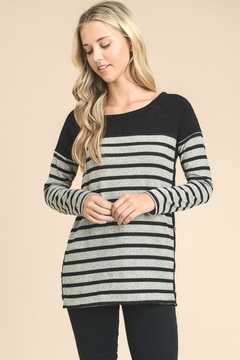 vanilla bay Side-Button Stripe Top - Product List Image