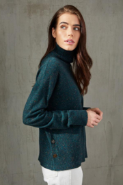 Autumn Cashmere Side Buttoned Mock - Product Mini Image