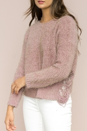 Hem & Thread Side Distressed Sweater - Product Mini Image