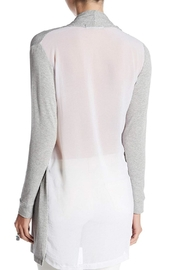 Coin 1804 Side Drape Cardigan - Front full body