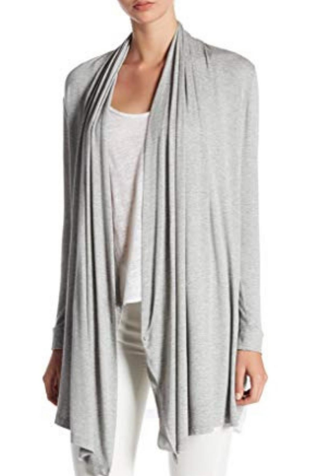 Coin 1804 Side Drape Cardigan - Front Cropped Image