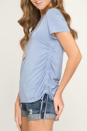 She + Sky Side Drawstring Tee - Front full body