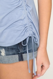 She + Sky Side Drawstring Tee - Side cropped