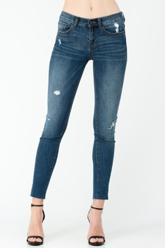 Sneak Peek Side Knee-Slit Jean - Product List Image