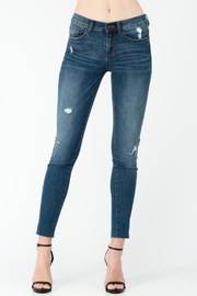 Sneak Peek Side Knee-Slit Jean - Product Mini Image