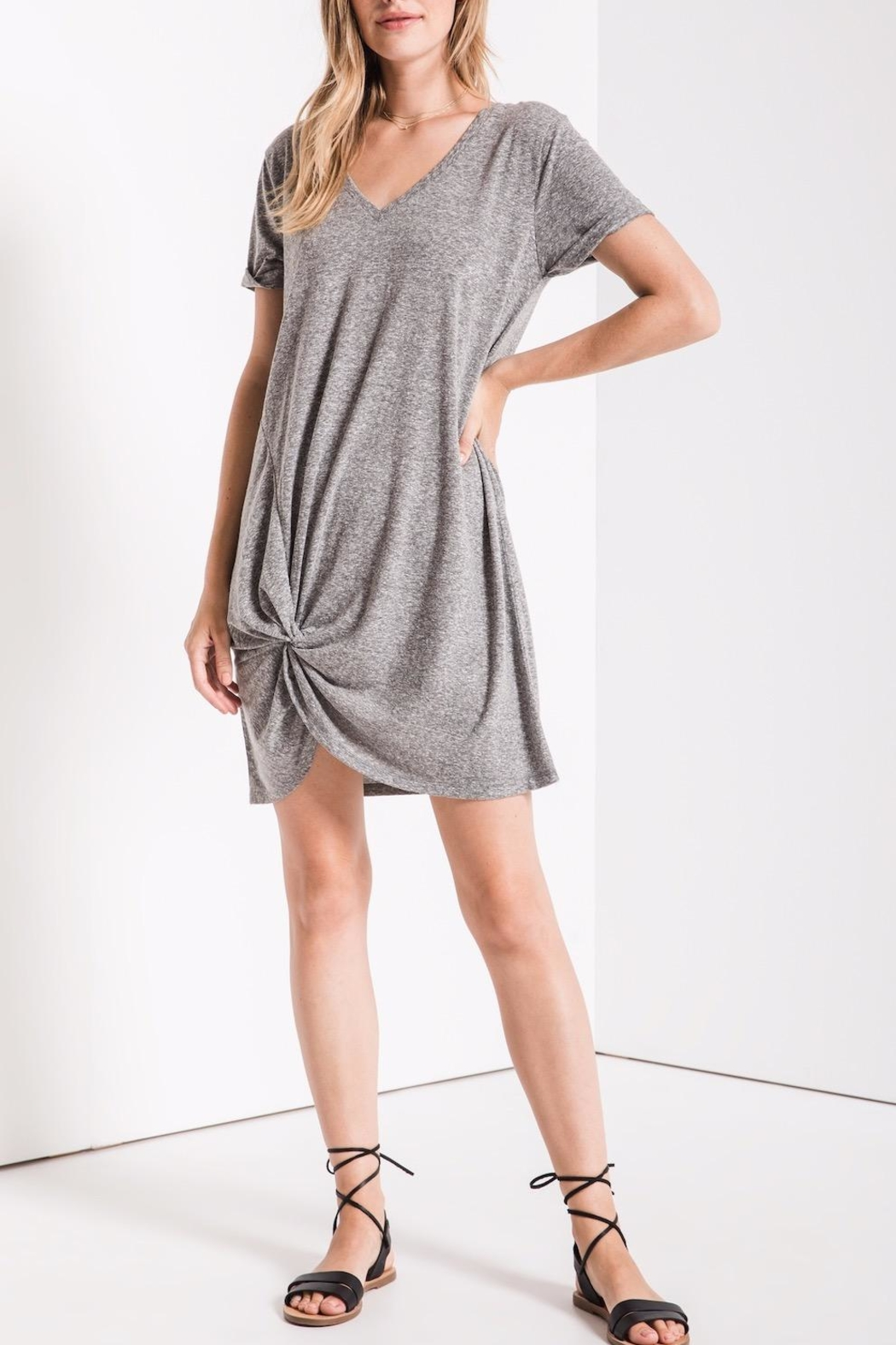 z supply Side Knot Dress - Front Cropped Image