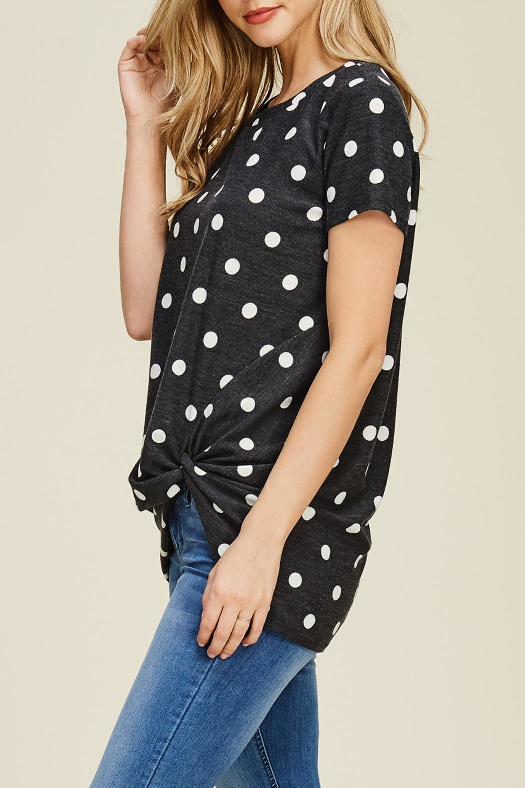 Riah Fashion Side Knot Tunic - Side Cropped Image